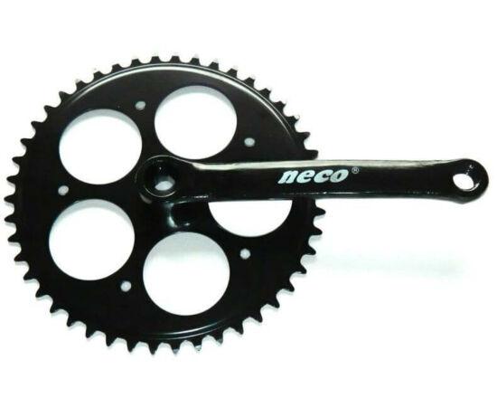 Neco négyszögtengelyes single speed hajtómű, 46T 170mm, acél, fekete