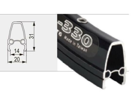 Shining országúti aero 700c felni, (622 x 20 mm), 36H, felnifékes, illesztett, FV, fekete