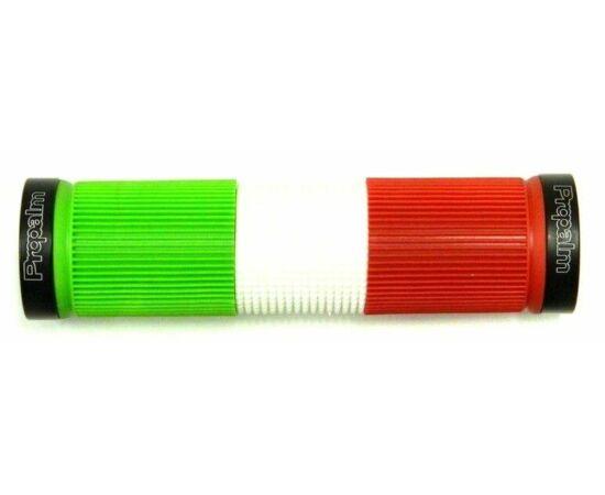 Propalm bilincses markolat, 128 mm, piros-fehér-zöld, fekete bilincsel