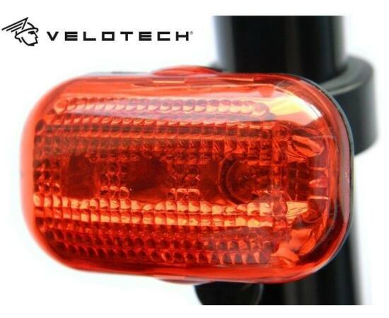 Velotech 3 LED-es lámpa, piros