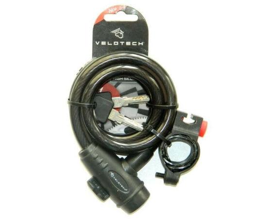 Velotech kulcsos sodronyzár 12 x 1800 mm, füst színű