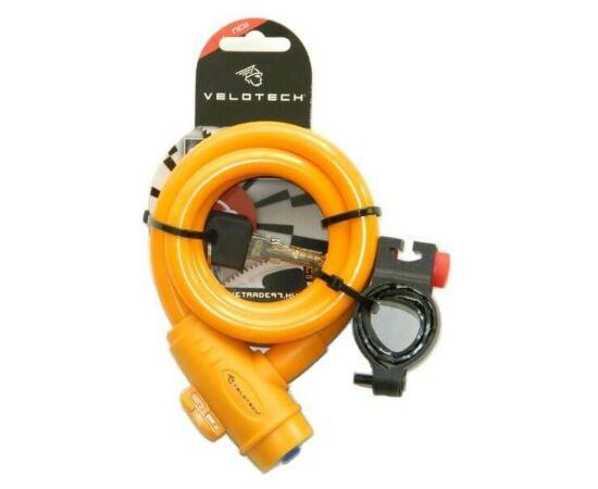 Velotech kulcsos sodronyzár 12 x 1800 mm, narancs