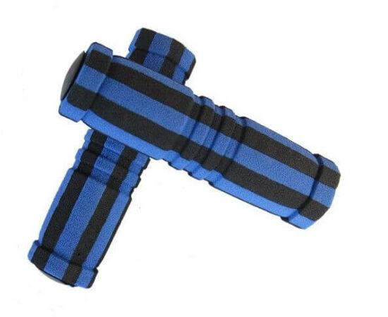 Velotech szivacs markolat fekete-kék 130 mm