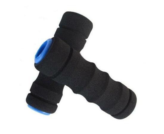 Velotech szivacs markolat fekete-kékbetét 130 mm