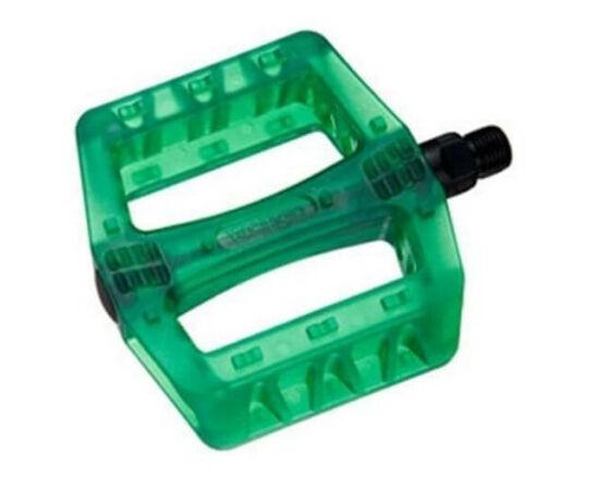 Wellgo B107P átlátszó műanyag platform pedál, zöld