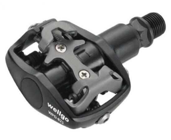 Wellgo WPD-823 patent pedál, Shimano kompatibilis, Fekete-szürke