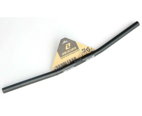 Zoom butted alumínium egyenes kormány 620 x 25,4 mm, 10 fok hátra, fekete