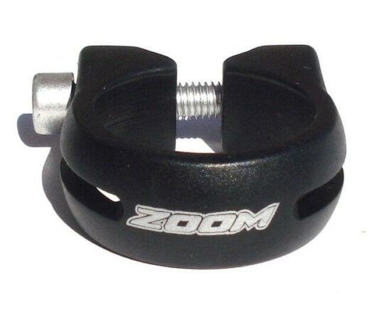 Zoom csavaros nyeregcső bilincs, 28,6 mm, fekete