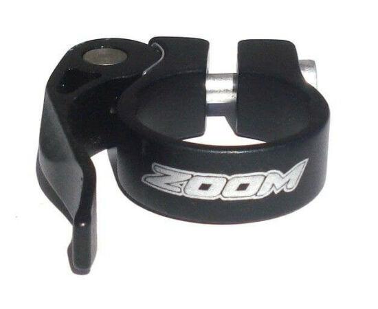 Zoom gyorszáras nyeregcső bilincs, 28,6 mm, fekete