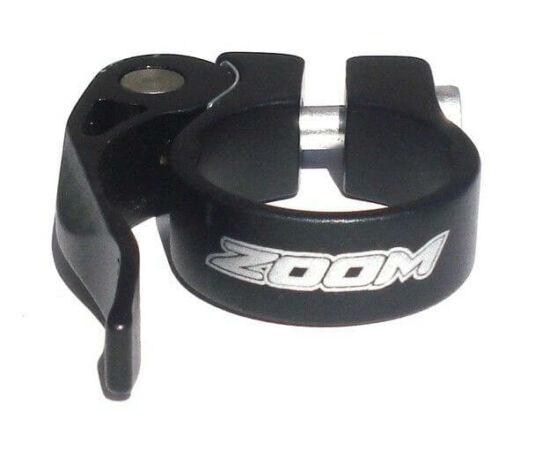 Zoom gyorszáras nyeregcső bilincs, 31,8 mm, fekete
