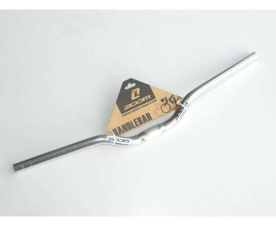 Zoom ALU kormány 25,4 x 600 x 40 mm, 10 fok hátra, ezüst színű