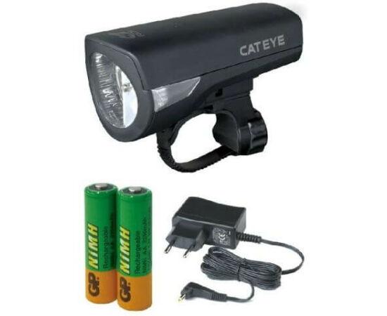 Cateye Econom HL-EL340RC első lámpa, 1 LED-es, újratölthető