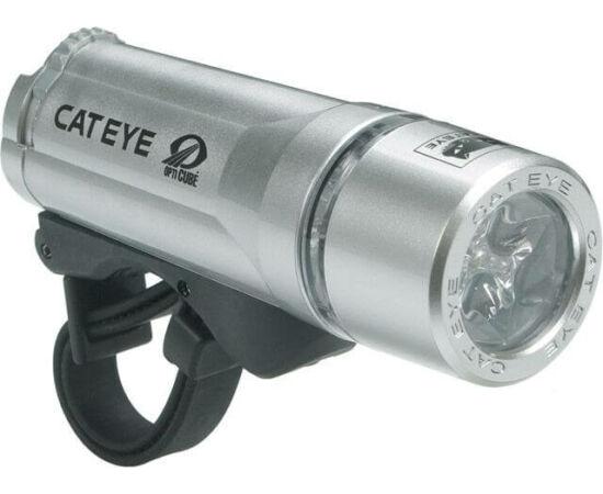 Cateye HL-EL410 első lámpa 2 funkció/3 LED Opticube 185cd ezüst
