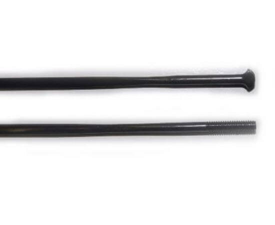 DT Swiss Aerolite egyenes T-fejű küllő, 279 x 2,3 x 0,9 mm, alu küllőanyával, fekete