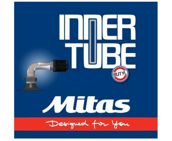 Mitas (Rubena)  10 x 1,75-2,0 (47/54-152) babakocsi belső gumi 90/90 fokos hajlított szeleppel, autós