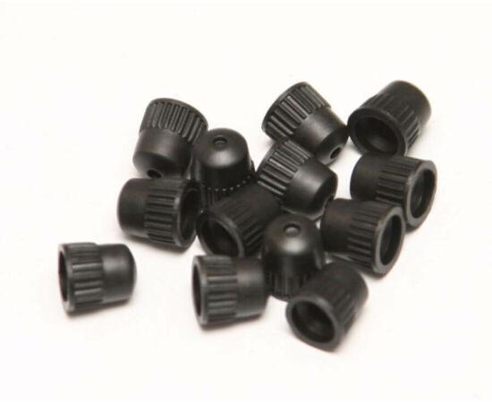 Műanyag szelepsapka, dunlop szelepes, 1 db, fekete