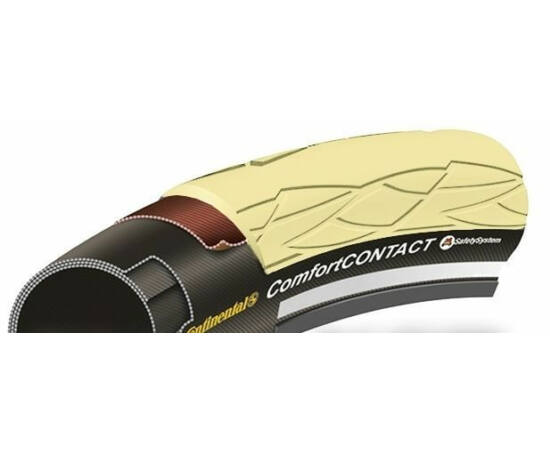 Continental Comfort Contact 29 x 2,1 (54-622) külső gumi (köpeny), defektvédett (Safety System Breaker), reflexcsíkos, krém színű, 900g