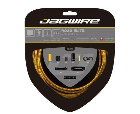 Jagwire Road Elite országúti váltóbowden készlet, arany színű