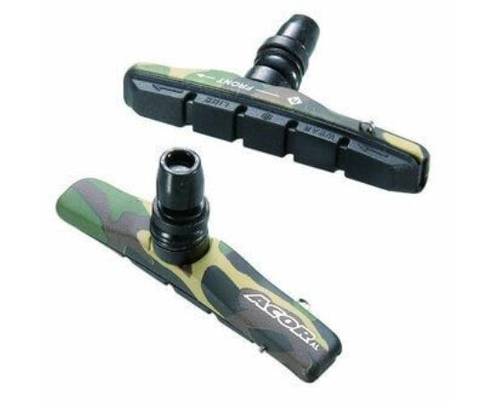 Acor ABS2803 cserélhető betétes csavaros V-fék fékpofa, 72 mm, 2 pár, terepszínű
