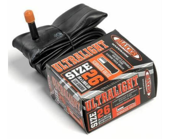 Maxxis Ultralight (0,6 mm) 26 x 1,5/1,75 (38/47-559) MTB belső gumi 32 mm hosszú szeleppel, autós