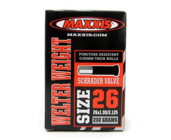 Maxxis Welter Weight 0.9 mm 26x1.90 / 2.125 AV belső gumi, Autó szelepes