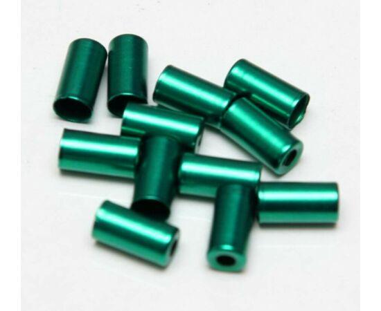 Alhonga 5 mm-es fém bowdenház kupak normál fékbowdenházakhoz, zöld