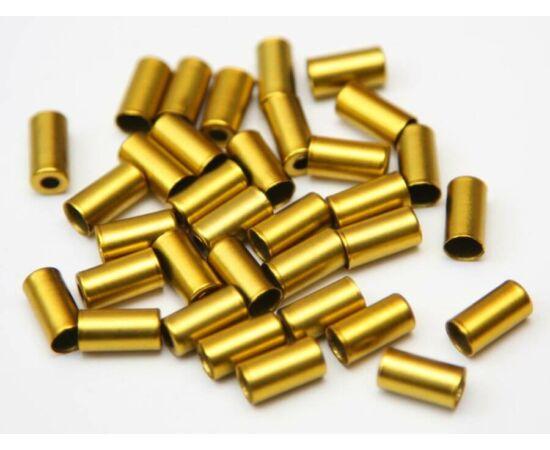 Alhonga fém bowdenház kupak 5 mm-es fékbowdenhez - arany színű