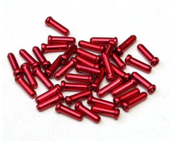 Alligator 2,4 mm-es alumínium bowdenvég kupak, piros