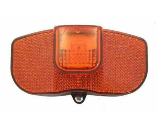 Jing Yi JY-148 elemes LED hátsó lámpa csomagtartóra, 80 mm csavartávolság, elemek nélkül