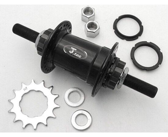 Joytech M14x185x110 mm, ipari csapágyas BMX agy, hátsó, 48 lyuk Fekete