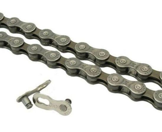 KMC Z72 kerékpár lánc, 8s, 116 szem, barna