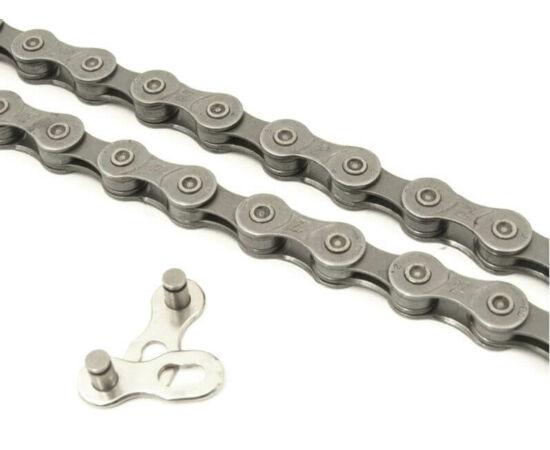 KMC Z99 kerékpár lánc, 9s, 116 szem, ezüst