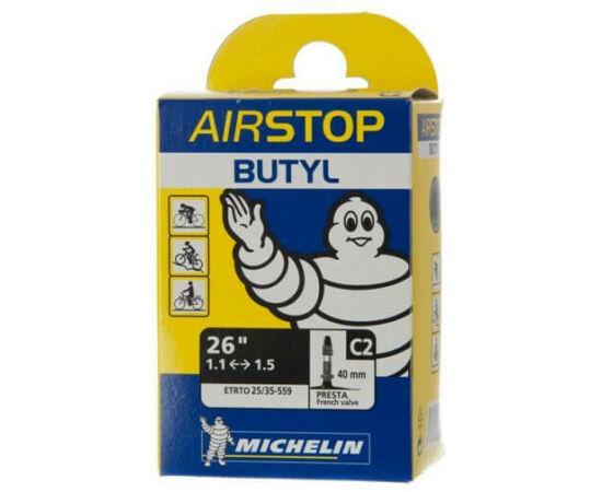 Michelin Aircomp C2 26 x 1,1-1,5 (25/35-559) MTB belső gumi 40 mm hosszú szeleppel, 136 g, presta