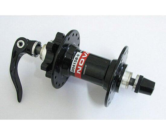 Novatec DO41SB-9 DH első kerékagy, 32H, tárcsafékes, vastag gyorszáras, ipari csapágyas, fekete