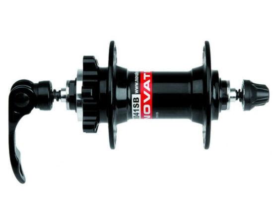 Novatec D041SB MTB első kerékagy, tárcsafékes, ipari csapágyas, gyorszáras, 36H, fekete DO