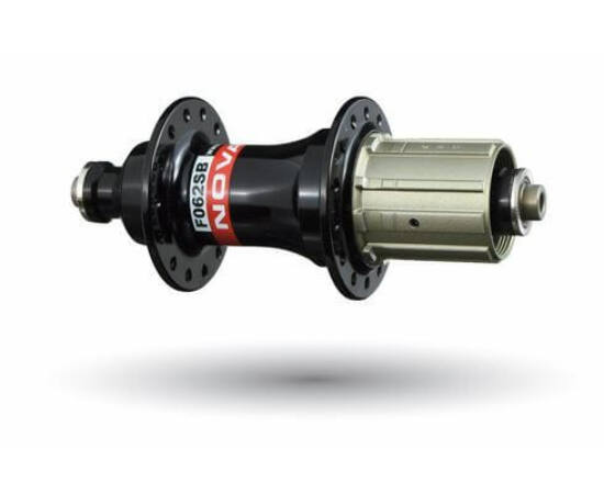 Novatec F062SB MTB hátsó kerékagy, 32H, gyorszáras, ipari csapágyas, fekete