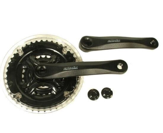 Prowheel MA-A543+ négyszögtengelyes MTB hajtómű, 24-34-42T, 170 mm, alumínium, fekete