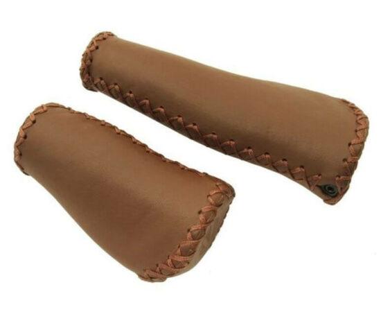 Velo ergonómikus bilincses bőr markolat jobb oldali markolatváltóhoz, 135-92 mm, barna
