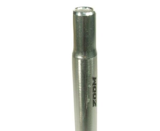 Zoom fej nélküli nyeregcső, 27,2 x 300 mm, alumínium, ezüst színű
