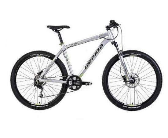 Gepida Ruga alu 27,5-es MTB kerékpár, 27s, 17 col, ezüst