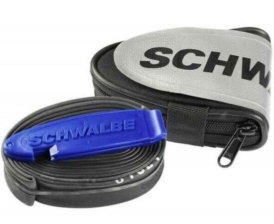 Schwalbe országúti nyeregtáska kerékpár belsővel (SV15) és 2 db gumileszedővel