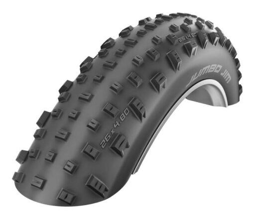 Schwalbe Jumbo Jim 26x4,0 (100-559) fatbike külső gumi, kevlárperemes, PaceStar, 127TPI, LiteSkin, 990g