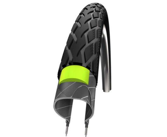 Schwalbe Marathon HS420 622-23 (700x23c) külső gumi, defektvédett (GreenGuard), reflexcsíkos 430g