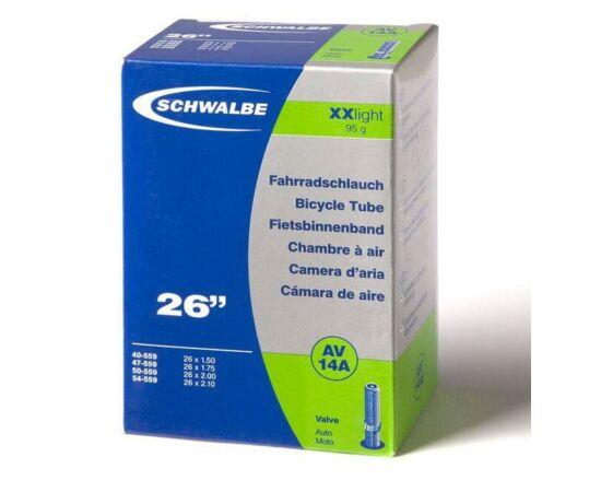 Schwalbe AV14A 26 x 1,5-2,1 XXLight belső gumi 95 g, autós
