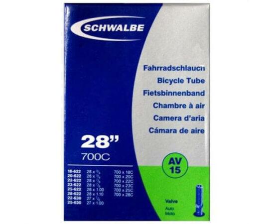 Schwalbe AV15 622 x 18/25 (700c) országúti belső gumi 34 mm hosszú szeleppel, 105 g, autós