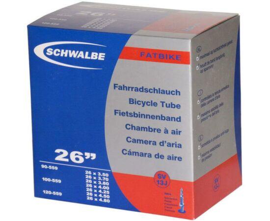 Schwalbe SV13J 26 x 3,5-4,8 (88/121-559) fatbike belső gumi 40 mm hosszú 120 g, presta