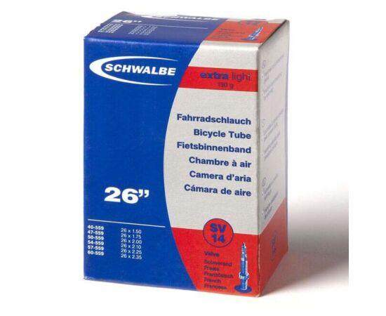 Schwalbe SV14 26 x 1,5-2,35 Extra Light belső gumi 130 g, presta
