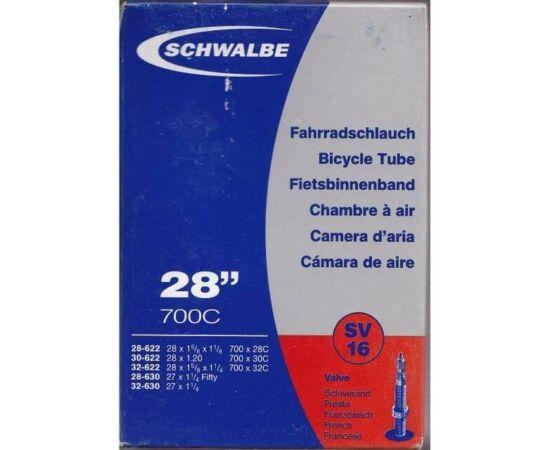 Schwalbe SV16 622 x 28/32 (700c) sport trekking, cross belső gumi 40 mm hosszú szeleppel, 135 g, presta