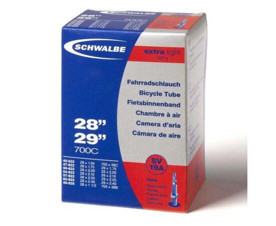 Schwalbe SV19A 27,5 x 2,1 - 29 x 2,4 Extra Light belső gumi 140 g, presta