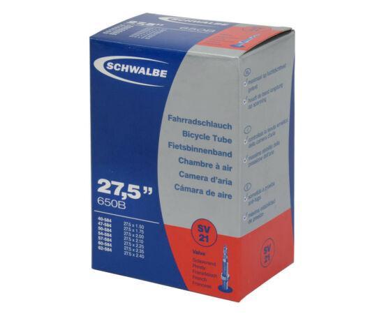 Schwalbe SV21 27,5 x 1,5-2,4 (40/62-584) MTB belső gumi, 205g, FV40 (40 mm hosszú szeleppel, presta)
